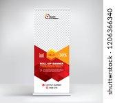 roll up banner design ... | Shutterstock .eps vector #1206366340