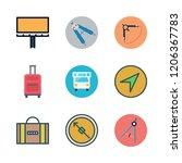 voyage icon set. vector set... | Shutterstock .eps vector #1206367783