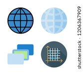 lines icon set. vector set... | Shutterstock .eps vector #1206367909