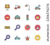 illuminated icon set. vector... | Shutterstock .eps vector #1206376276
