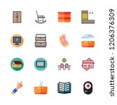 home icon set. vector set about ... | Shutterstock .eps vector #1206376309