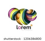 abstract geometric logo created ... | Shutterstock .eps vector #1206386800