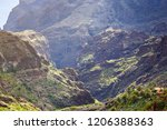 mountain landscape of the masca ... | Shutterstock . vector #1206388363