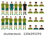 vector illustration of soccer... | Shutterstock .eps vector #1206392293