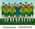 vector illustration of soccer... | Shutterstock .eps vector #1206392296