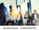 young candidates waiting for an ... | Shutterstock . vector #1206394270