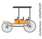 a vintage transport ridden... | Shutterstock .eps vector #1206396109