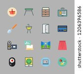 home icon set. vector set about ... | Shutterstock .eps vector #1206396586