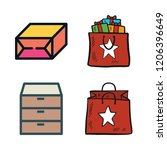 box icon set. vector set about... | Shutterstock .eps vector #1206396649