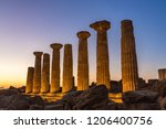 remains of heracles temple  ... | Shutterstock . vector #1206400756
