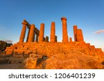 the temple of juno in the... | Shutterstock . vector #1206401239