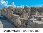 the ruins of the ancient roman... | Shutterstock . vector #1206402100