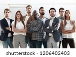 group of successful young... | Shutterstock . vector #1206402403