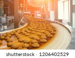 automatic bakery production... | Shutterstock . vector #1206402529