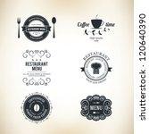 label set for restaurant menu... | Shutterstock .eps vector #120640390