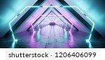 modern futuristic alien... | Shutterstock . vector #1206406099