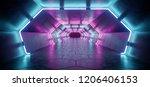 bright modern futuristic alien... | Shutterstock . vector #1206406153