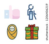love icon set. vector set about ... | Shutterstock .eps vector #1206406219