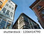 view of buildings on a sunny... | Shutterstock . vector #1206414790