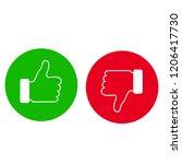 like  dislike icon. thumbs up.... | Shutterstock .eps vector #1206417730