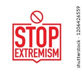 no extremism campaign icon.... | Shutterstock .eps vector #1206426559