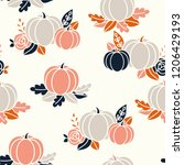 vector seamless halloween... | Shutterstock .eps vector #1206429193