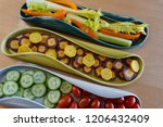 colorful  healthy crudites  raw ... | Shutterstock . vector #1206432409
