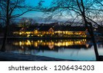 twilight in trakai  lithuania.... | Shutterstock . vector #1206434203