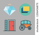 stone icon set. vector set... | Shutterstock .eps vector #1206436873