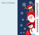 merry christmas  happy... | Shutterstock .eps vector #1206437620
