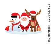 merry christmas  happy... | Shutterstock .eps vector #1206437623