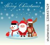 merry christmas  happy... | Shutterstock .eps vector #1206437629