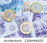 close up of british currency in ... | Shutterstock . vector #1206446020