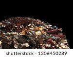 heap of metal trash in a... | Shutterstock . vector #1206450289