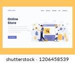 landing page template. modern... | Shutterstock .eps vector #1206458539