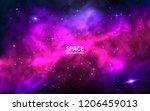 cosmic background. space... | Shutterstock .eps vector #1206459013