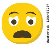 worried face flat emoji icon... | Shutterstock .eps vector #1206459259