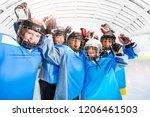 hockey players celebrating... | Shutterstock . vector #1206461503