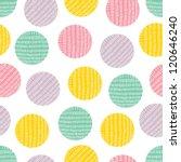 seamless pattern  polka dot...   Shutterstock .eps vector #120646240