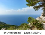 mallorca's steep coast in the... | Shutterstock . vector #1206465340