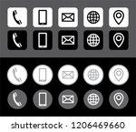 vector elegant grayscale... | Shutterstock .eps vector #1206469660