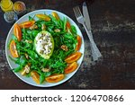 healthy nutritious salad on a... | Shutterstock . vector #1206470866