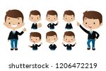 set of strong characters | Shutterstock .eps vector #1206472219