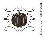 pumpkin nature decoration... | Shutterstock .eps vector #1206479590