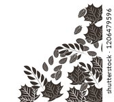 autumn leaf nature on white... | Shutterstock .eps vector #1206479596