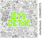 let's detox. vector lettering... | Shutterstock .eps vector #1206485173