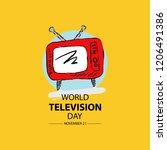 world television day. november... | Shutterstock .eps vector #1206491386