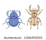 vector illustration with hand... | Shutterstock .eps vector #1206492010