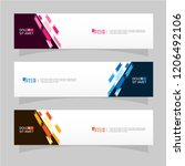 vector abstract banner design... | Shutterstock .eps vector #1206492106
