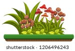 nature object with mushrooms... | Shutterstock .eps vector #1206496243